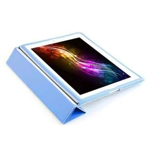 New BLUE Full Body PU Leather Smart case for Apples iPad