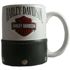 HD Harley Davidson 11 Ounce Saddlebag Mug   Tan Sports