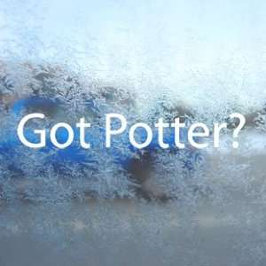 Got Potter? White Decal Harry Potter Laptop Window White