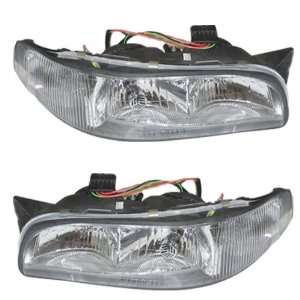 97 99 Buick LeSabre Headlights Headlamps with Cornering Lights Lamps