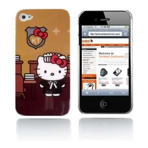 Hello Kitty snap on hard case for iPhone 4G (Brown) Cell