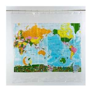 World Map Shower Curtain Toys & Games