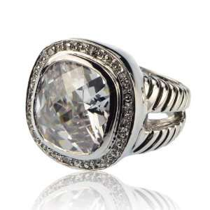 Inspired Silver Cubic Zirconia Ring Size 8 Fashion Jewelry Jewelry