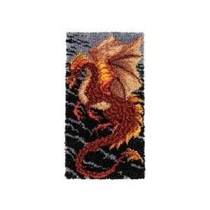 Craftways Storm Dragon Rug Latch Hook Kit Home & Kitchen