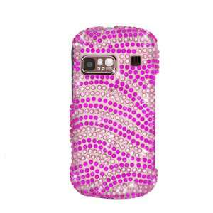 Zebra Skin Pink/ Hot Pink With Full Rhinestones Hard