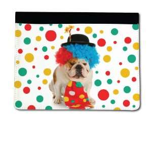 iPad 2 & 3 Cover Funny Dogs Design #1 (Clown Bulldog