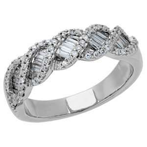 0.70 Carat 18kt White Gold Diamond Ring Jewelry
