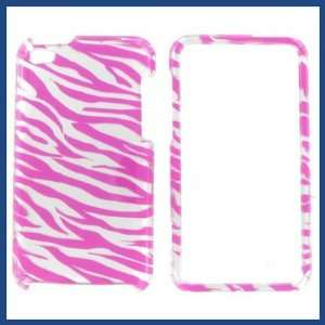 Apple iPod Touch 4 2D Silver Pink Zebra Protective Case