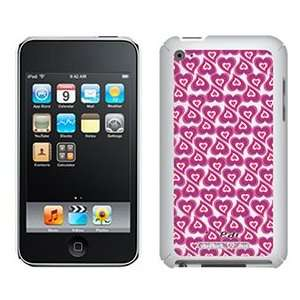 Crazy Hearts Pink on iPod Touch 4G XGear Shell Case