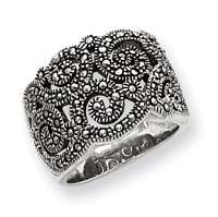 Sterling Silver Marcasite Ring   Size 7   JewelryWeb Jewelry