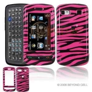 LG Xenon GR500 Cell Phone hot Pink/Black Zebra Design Protective Case