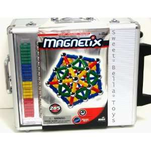 MAGNETIX 285 Pieces Silver Metal Carrying Case with Wheels
