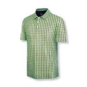 Adidas 2010 Mens ClimaCool Plaid Print Golf Polo Shirt