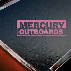 MERCURY OUTBOARD Pink Decal Car Truck Window Pink Sticker