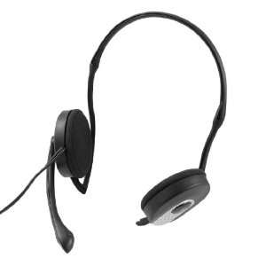 Gino 3.5mm Plug Mic Microphone Headphone Headset Black for Laptop
