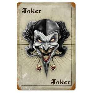Joker Card Miscellaneous Vintage Metal Sign   Victory