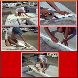 White Eternabond Mobile Home RV Rubber Roof Repair 6 x 10
