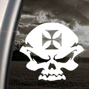 Skull And Iron Cross Motorcycle Bike Helmet Decal Automotive
