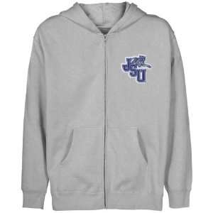 NCAA Jackson State Tigers Youth Ash Logo Applique Full Zip Hoody