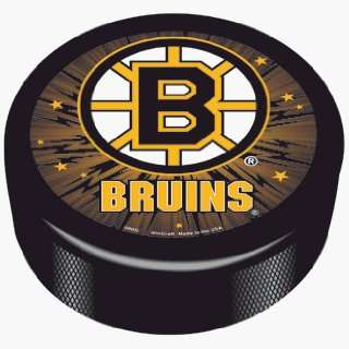 NHL Boston Bruins Logo Hockey Puck **