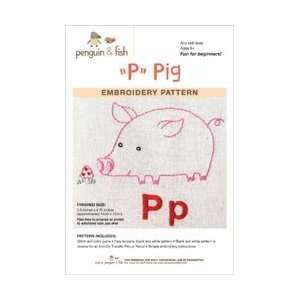 and Fish Embroidery Patterns Pig; 3 Items/Order: Arts, Crafts & Sewing