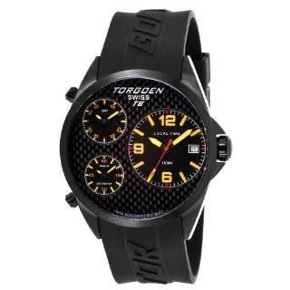 Swiss Mens T10302 Black Phantom Dial 3 Hand Analog Rubber Strap Watch