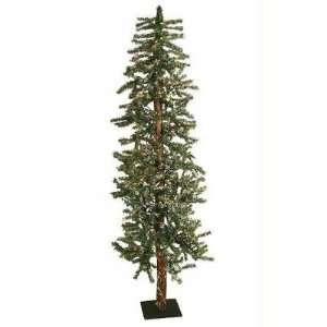 Pre Lit Snowy Flocked Alpine Artificial Christmas Tree   Multi