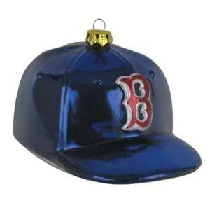 Boston Red Sox MLB Glass Baseball Cap Ornament (4) Sports