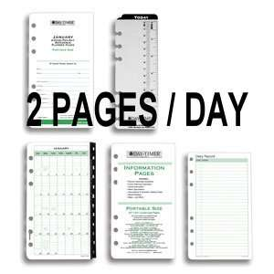 DAY TIMER 2 Pages Daily Calendar Refill Pages: Office Products