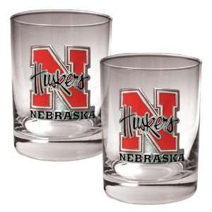 University Of Nebraska Cornhuskers 2pc Rocks Glass Set