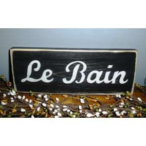 LE BAIN French Bath Rustic Shabby CUSTOM Chic Wall Decor Wood Sign