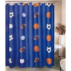 (Blue) Shower Curtain with 12 Shower Curtain Hooks: Everything Else