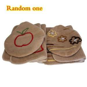 Shower Bathroom Bath Mat Lid Cover Toilet Rug Set Non skid 3PCS Tan