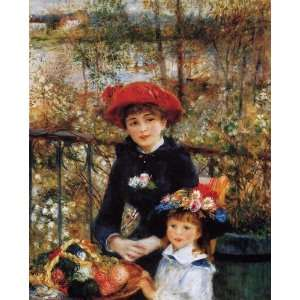Oil Painting Two Sisters on the Terrace Pierre Auguste