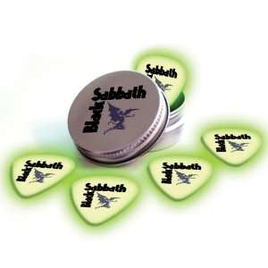 Glow In The Dark Premium Guitar Picks & Tin Musical Instruments