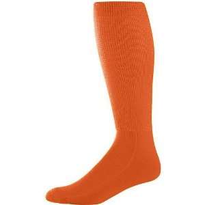 Augusta Adult Wicking Athletic Soccer Socks ORANGE ADULT (TUBE SOCK