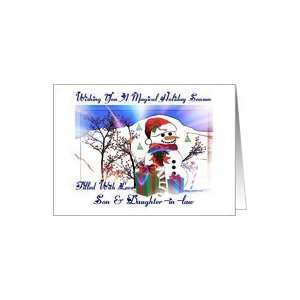 Holiday Season / Christmas ~ Son & Daughter in law ~ Snowman Holiday