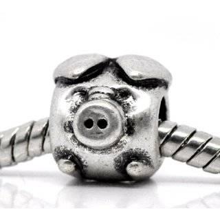 Sterling Silver Cute Animal Pig Bead Charm For Pandora Troll Biagi