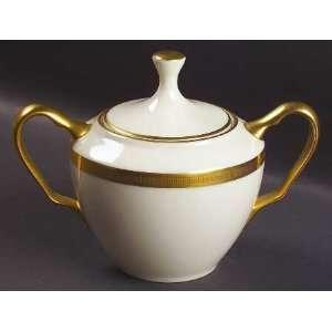 China Tuxedo (Gold Backstamp) Sugar Bowl & Lid, Fine China Dinnerware