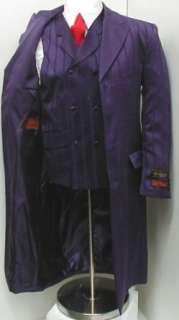 New Mens Purple Three Piece Super 150s Zoot Dress Suit