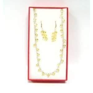 Austrian Swarovski Crystals Necklace and Earring Set