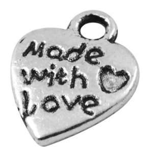 Jewelry Making 12 pcs Tibetan Silver Pendant, Heart, Antique Silver