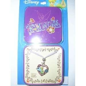 Disney Tinkerbell Tinker Bell Genuine Crystal Necklace