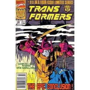 Transformers, Vol 1 #80 (Comic Book) END OF THE ROAD MARVEL COMICS