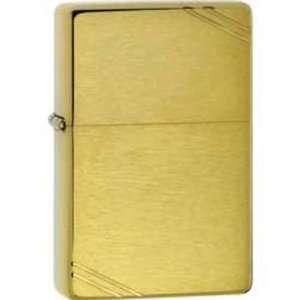 Zippo Lighters 11240 Vintage Zippo Lighter with Brushed Brass Finish