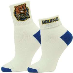 UCLA Bruins Ladies White Roll Down Socks Sports