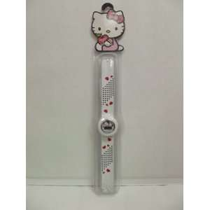 Hello Kitty White Slap Band Watch Hearts Toys & Games