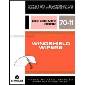 1970 MoPar Windshield Wipers Service Training Manual