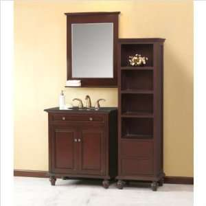32 Bathroom Vanity Set in Dark Oak Vanity Top Finish: Baltic Brown