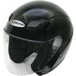 Xpeed Solid XF307 Harley Touring Motorcycle Helmet   Black